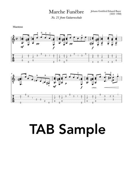 Marche Funêbre and Bolero by Bayer (TAB Sample)
