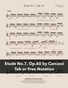 Etude No.7, Op.60 by Carcassi (Free PDF)