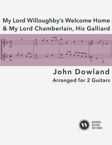 My Lord Willoughby & My Lord Chamberlain by Dowland - Guitar Duets (PDF)
