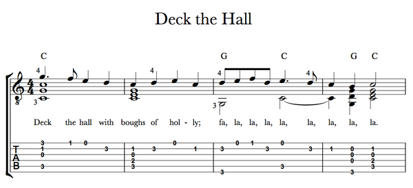 Deck the Halls Tab Sample