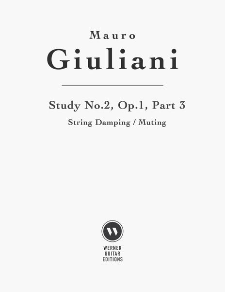 Study or Etude No.2, Op.1, Part 3 by Giuliani (PDF)