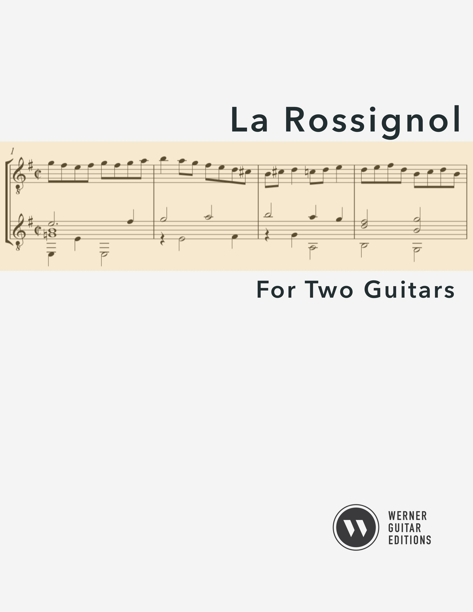 La Rossignol (Anonymous) - Guitar Duet (PDF)