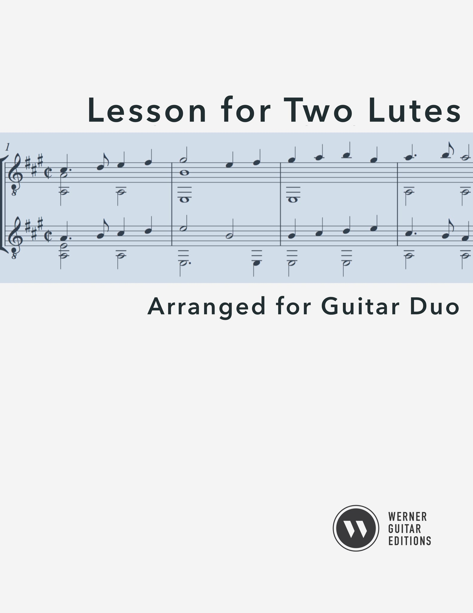 Lesson for Two Lutes - Guitar Duet (PDF)