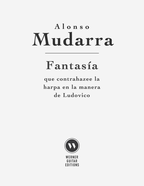 Fantasia X by Mudarra for Guitar (Free PDF)