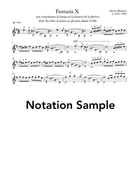 Fantasia X by Mudarra Sheet Music Sample