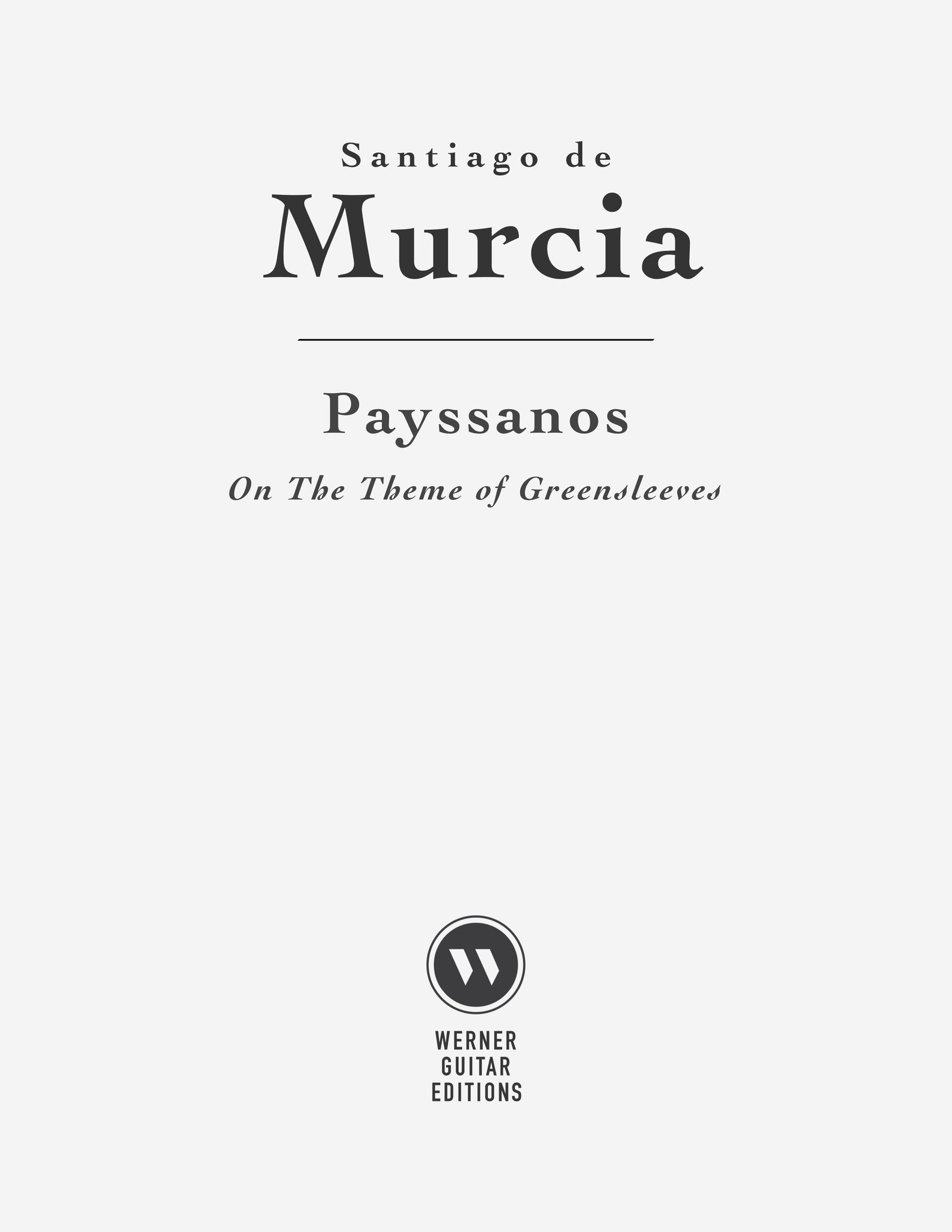 Payssanos (Greensleeves) by Santiago de Murcia - Sheet Music or Tab for Guitar