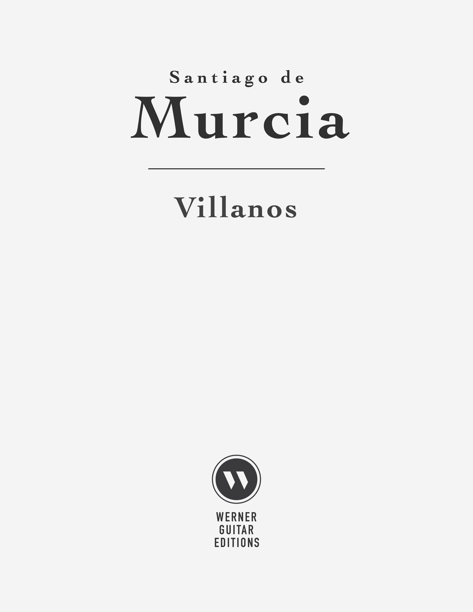 Villanos by Santiago de Murcia (PDF Sheet Music and Tab)