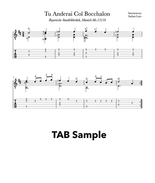Easy Classical Guitar Volume 2 - TAB Sample