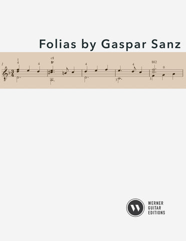Folias by Gaspar Sanz for Guitar (PDF)