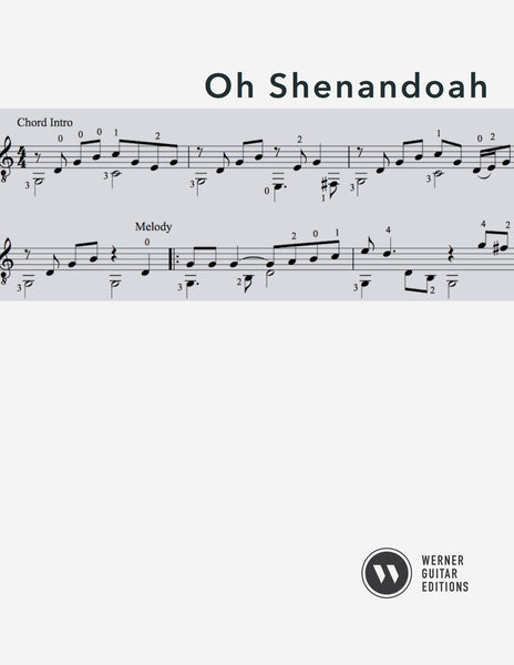 Oh Shenandoah for Guitar