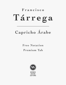 Capricho Arabe by Tarrega (Free Sheet Music PDF)
