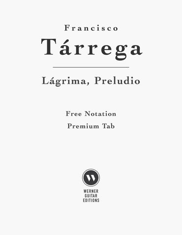 Lagrima by Tarrega (Free Sheet Music PDF)