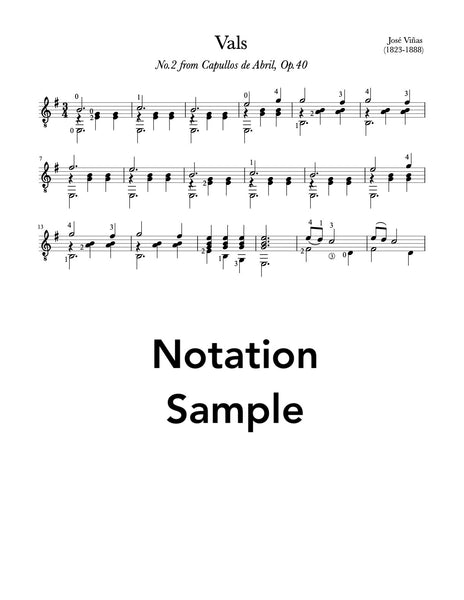 Vals, No.2, Op.40 by Vinas (PDF Sheet Music) - Sample