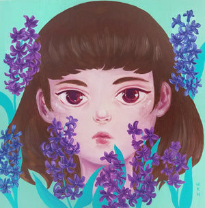 Hyacinth - Painting by Holly Nicolazzo