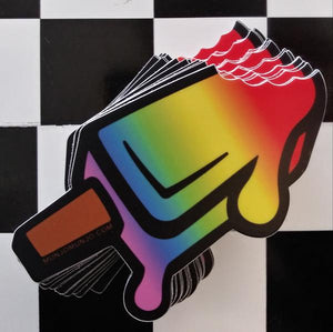 Rainbow Popsicle sticker