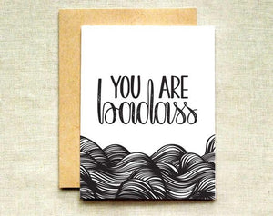 You Are Badass Greeting Card