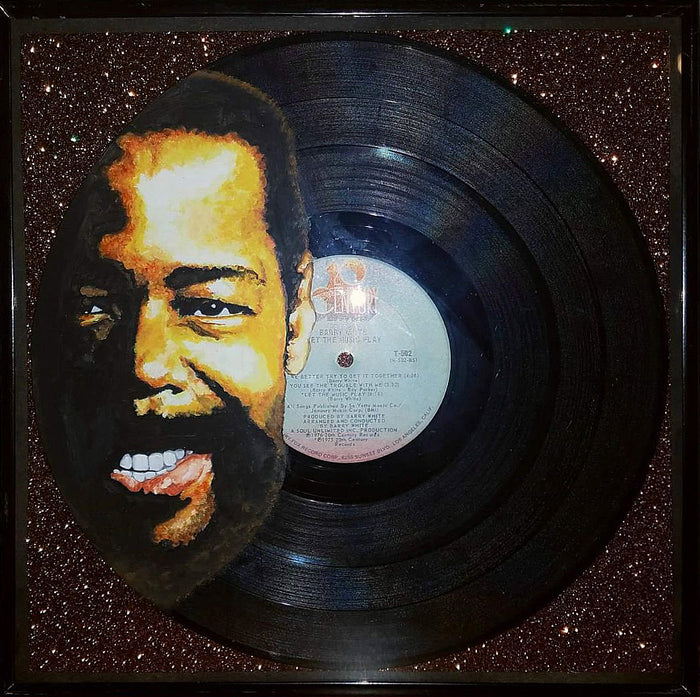 Barry White Vinyl Painting