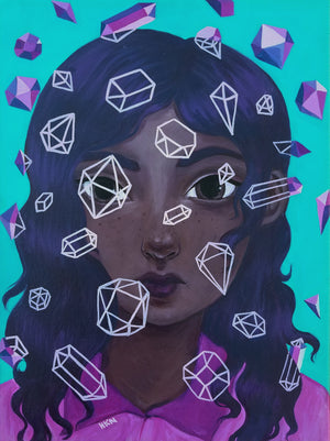 Gem - Painting by Holly Nicolazzo