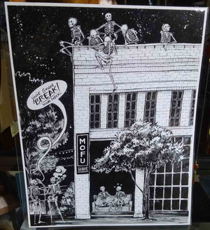 Downtown Skeletons Print