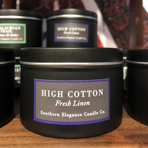 High Cotton Soy Candle Travel Tin