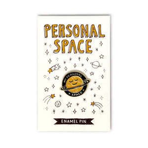 personal space enamel pin badge imurj raleigh artist