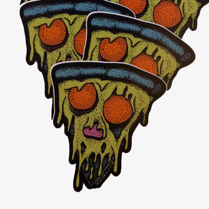 Neon Pizza Face sticker