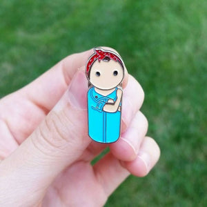 Rosie the Riveter enamel pin