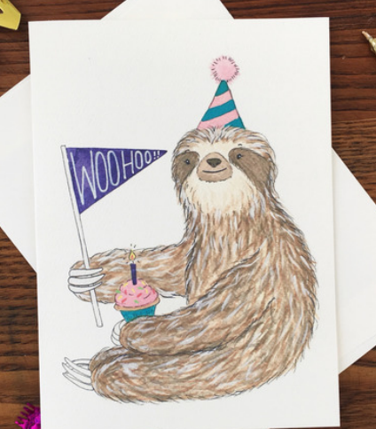 Sloth Woohoo Birthday