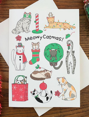 Meowy Catmas Greeting Card