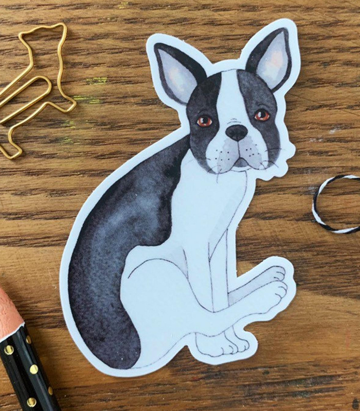 Dog Butt Vinyl Sticker