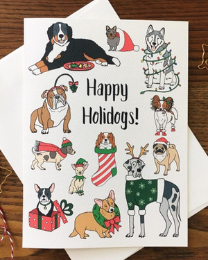 Happy Holidogs Greeting Card