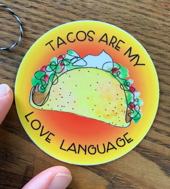 Taco Are My Love Language Vinyl Sticker