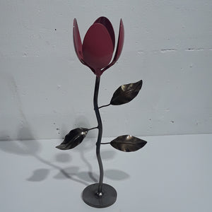 Tulip Flower Welded Metal Art