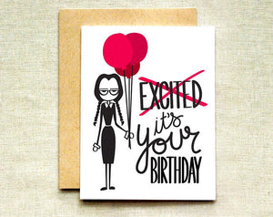 Wednesday Addams Birthday Card