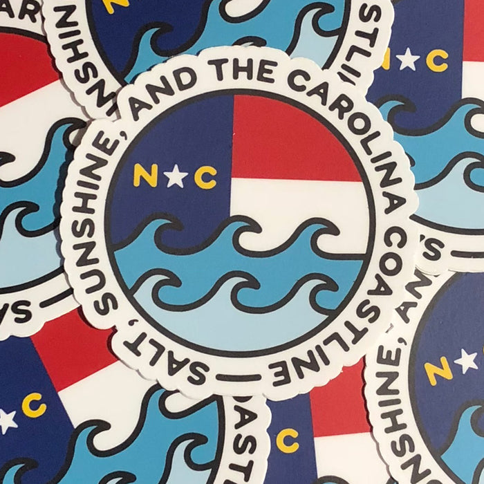 Salt, Sunshine, & the Carolina Coastline Sticker