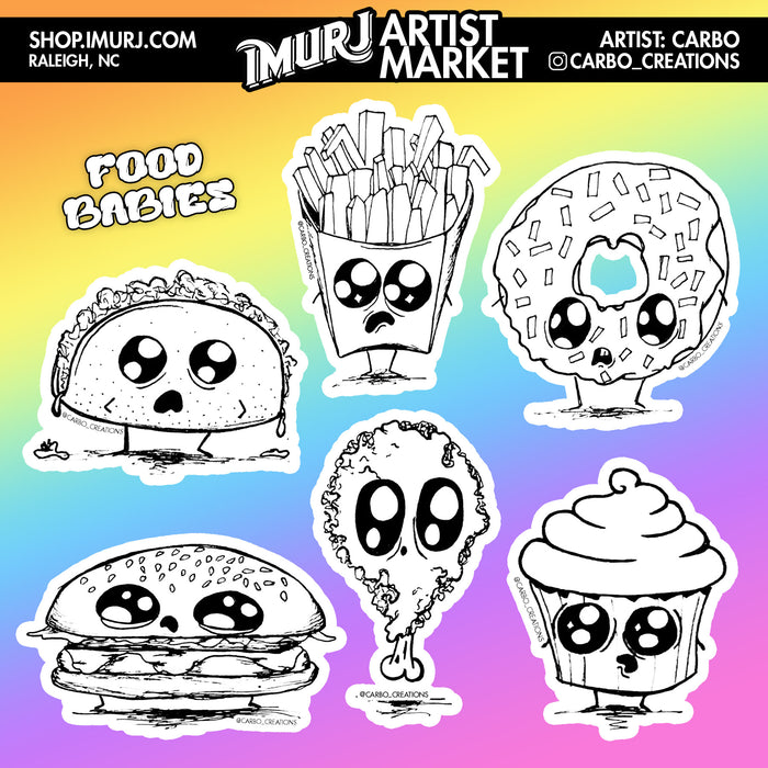 Food Babies Sticker Sheet