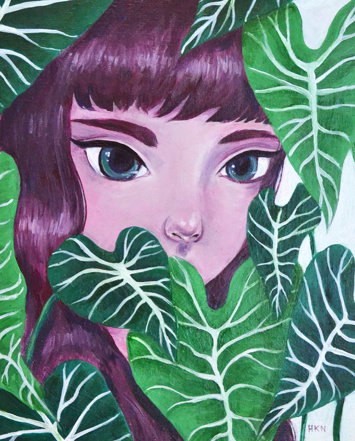 Greenery - Painting by Holly Nicolazzo