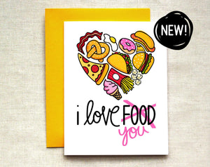 I Love [food] YOU Card
