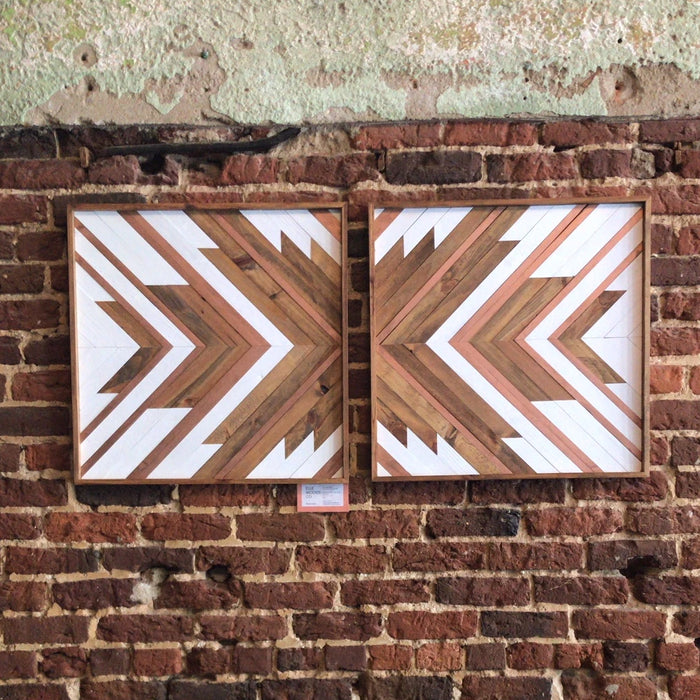 "24"" White and Copper Diptych - Danielle Milner"