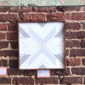 "16"" White and Grey Square - Danielle Milner"