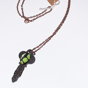 Butterfly Vintage Style Key Necklace