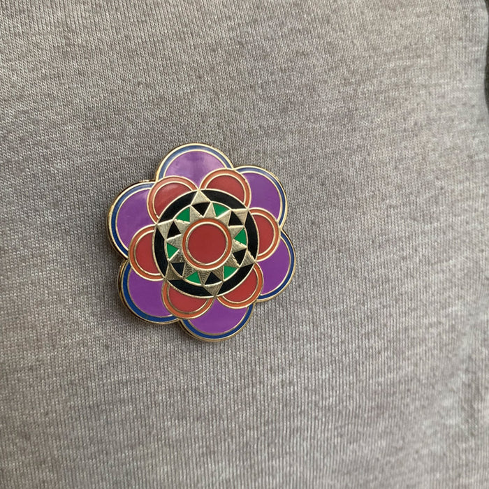 Mandala brooch pin
