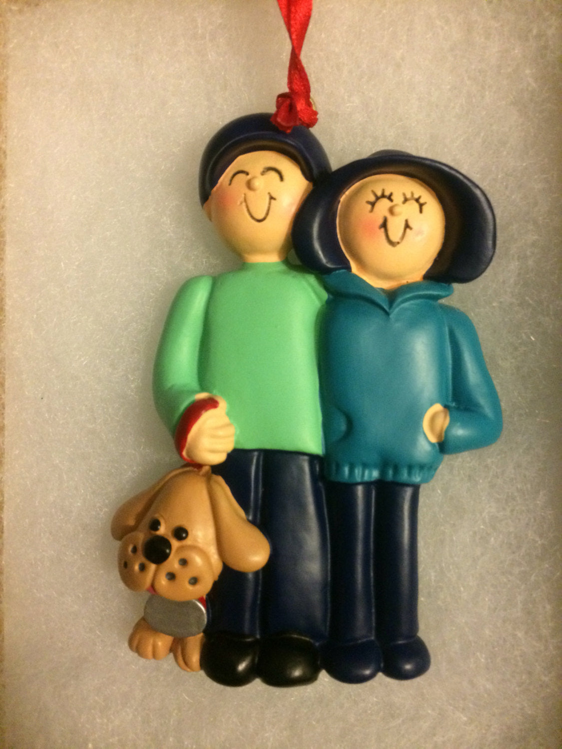 Family with Dog- Personalized Ornament