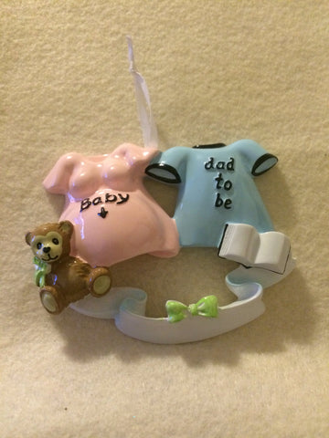 Dad to Be // Expecting Couple Personalized Christmas Ornament