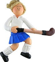 Field Hockey Female Personalized Christmas Ornament