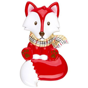 Red Fox Personalized Christmas Ornament