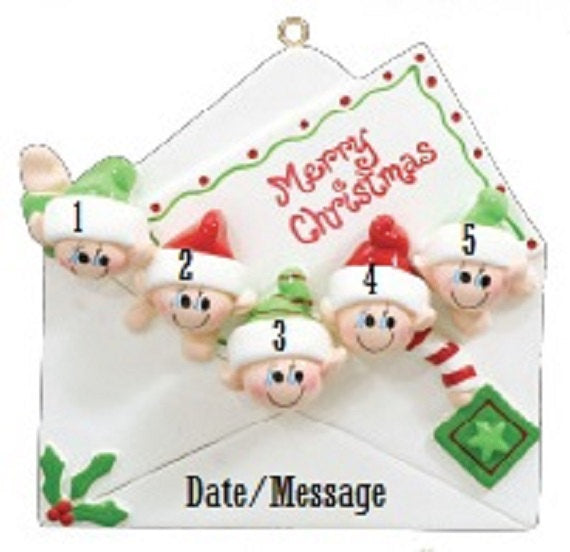 Elf Mail Personalized Family Christmas Ornament