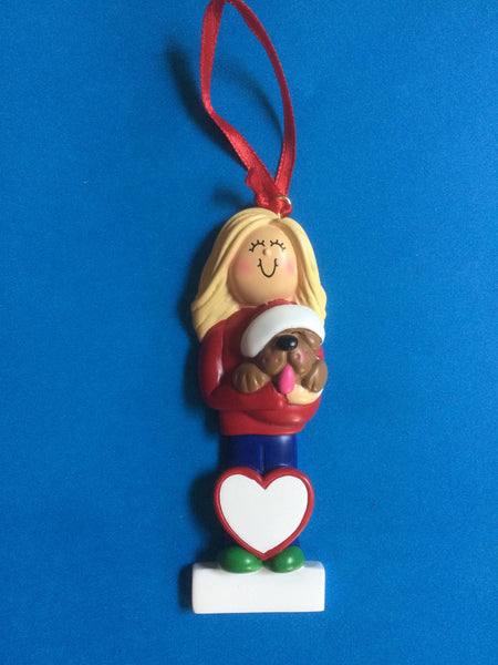 Dog Lover Personalized Christmas Ornament
