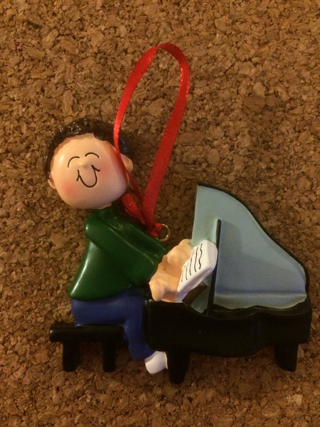 Piano Player Personalized Music Ornament