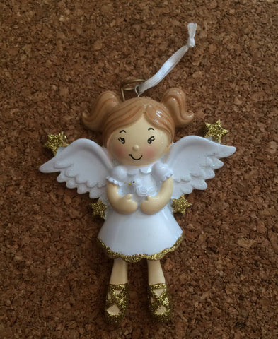 Angel Child  // Personalized Christmas Ornament